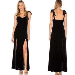 Privacy please revolve black velvet Jupiter dress